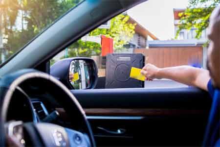 How can we test the garage door sensors working properly